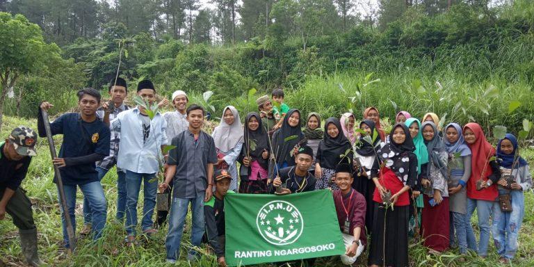 IPNU – IPPNU Ngargosoko Hijaukan Lereng Merapi