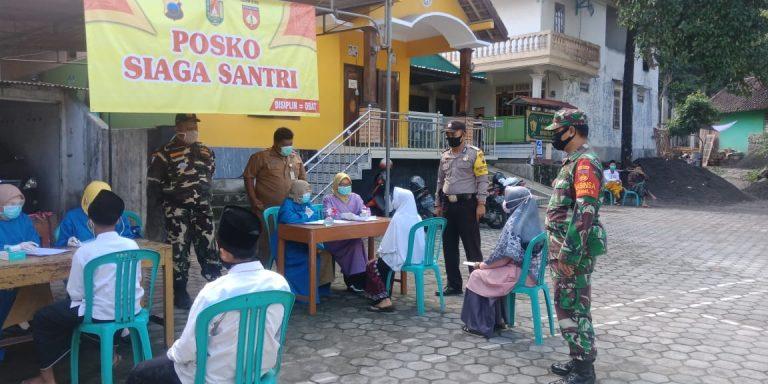 Screening Kedatangan Santri, Pesantren Roudlotul Falaah gandeng Puskesmas dan Satgas Covid